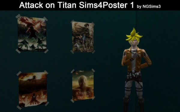 Ng Sims 3 Attack On Titan Posters Sims 4 Downloads