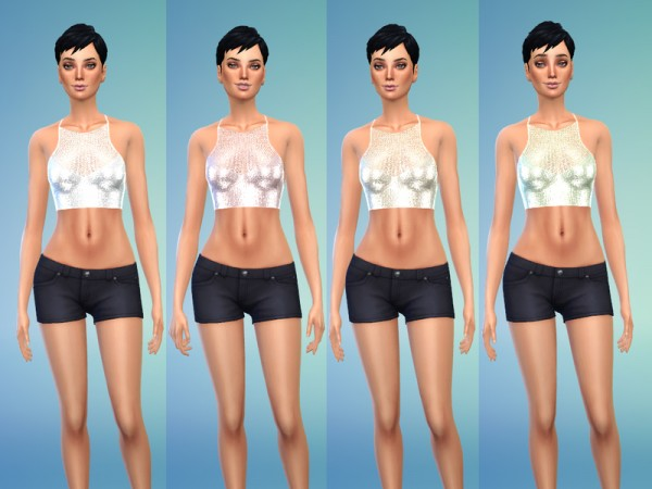 The Sims Resource: Metallic Knitted Top by Jaru Sims