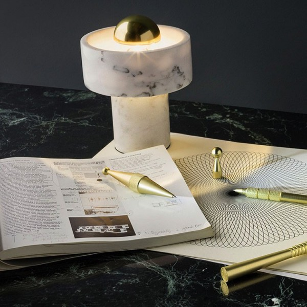 Meinkatz Creations: Stone Wall and Table Light by Tom Dixon