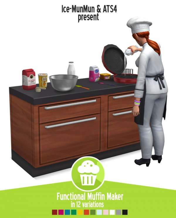 Around The Sims 4: Functional muffin maker