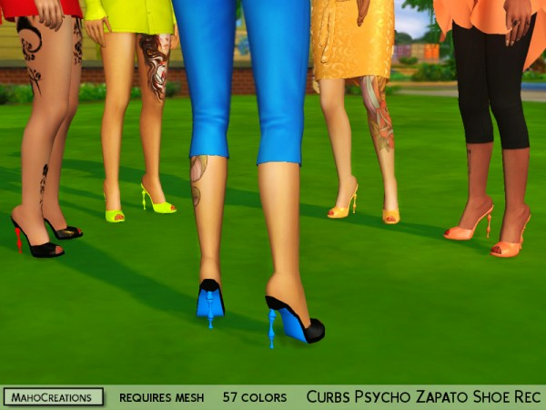 The Sims Resource: Curbs Psycho Zapato Shoes Recolored by MahoCreations