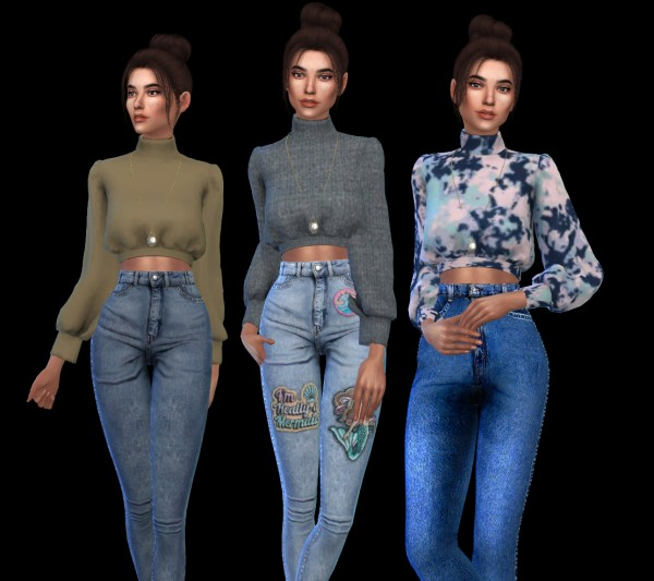 Leo 4 Sims: Cropped Sleeves recolor