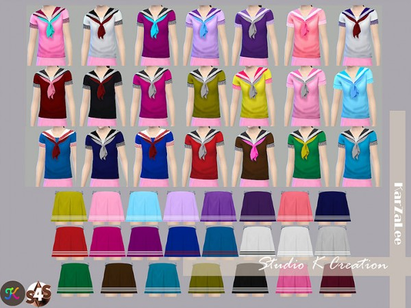Studio K Creation Sailor Uniform For Child Sims 4 Downloads