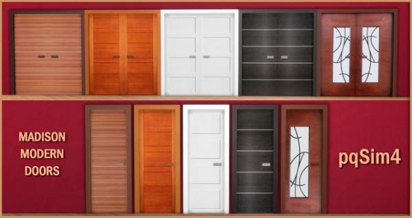 PQSims4: Madison Modern Doors