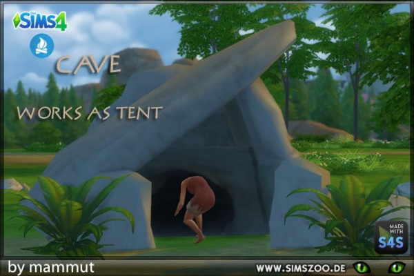 blackys sims 4 zoo stone cave 2 by mammut sims 4 downloads. Black Bedroom Furniture Sets. Home Design Ideas