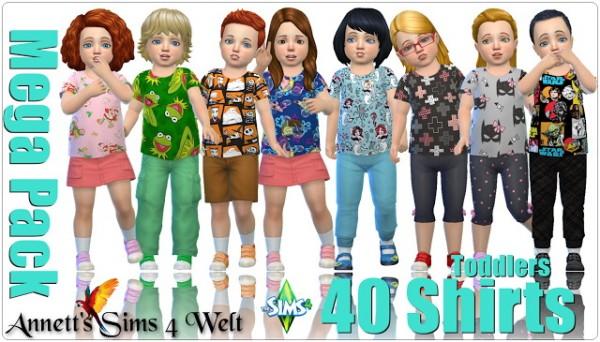 Annett`s Sims 4 Welt: Mega Pack   40 Toddler Shirts