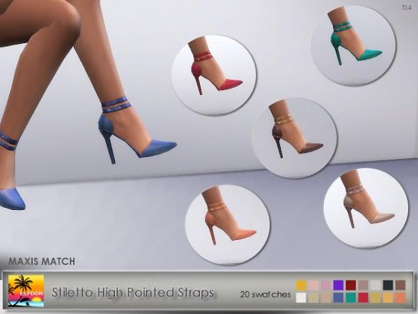 Elfdor: Stiletto High Pointed Straps recolor