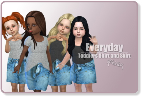 Xmisakix sims: Toddlers Skirts and Shirts