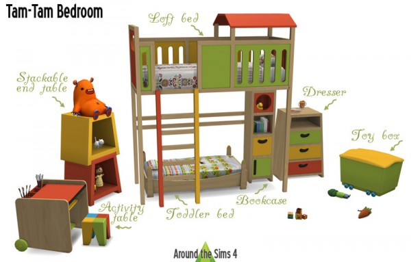 Around The Sims 4 Tam Tam Kidsroom Sims 4 Downloads