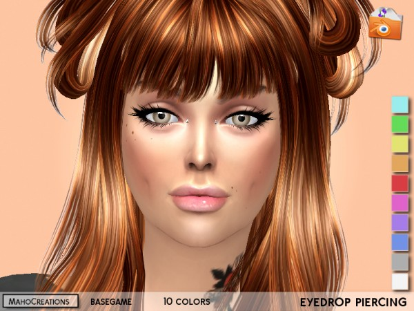The Sims Resource: Eyedrop Piercing by MahoCreations