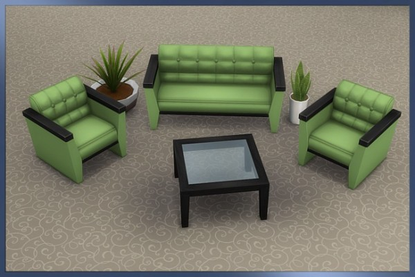 Blackys Sims 4 Zoo: Set Lio   sofa and armchair by Cappu