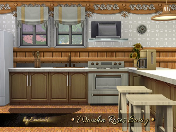 The Sims Resource: Wooden Roses Swag by emerald