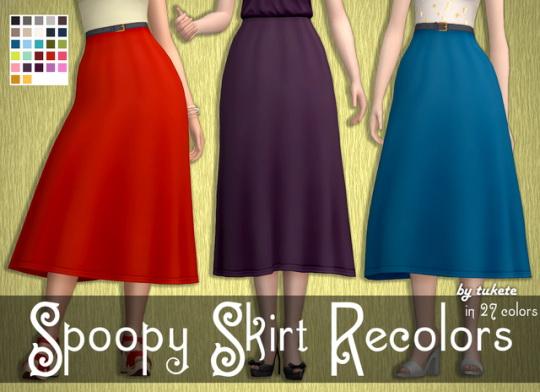 Tukete: Spoopy Skirt Recolors