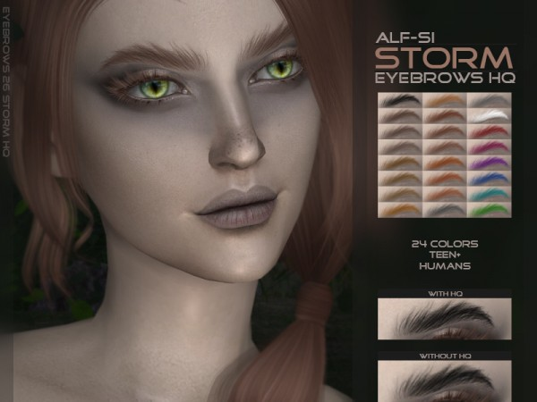 The Sims Resource: Storm   Eyebrows HQ by Alf Si