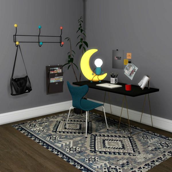 Leo 4 Sims: Moon Table Lamp