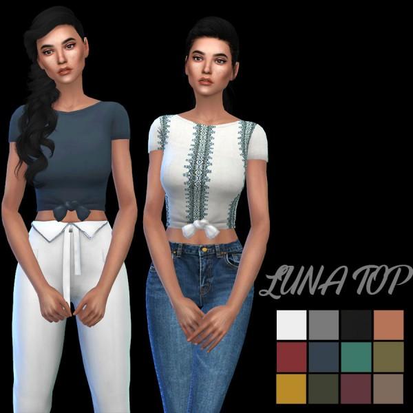 Leo 4 Sims: Luna top recolor