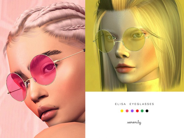 The Sims Resource: Elisa glasses by serenity-cc • Sims 4 Downloads