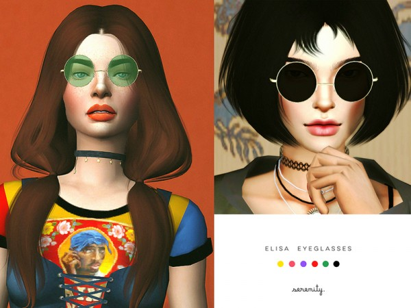 The Sims Resource: Elisa glasses by serenity cc