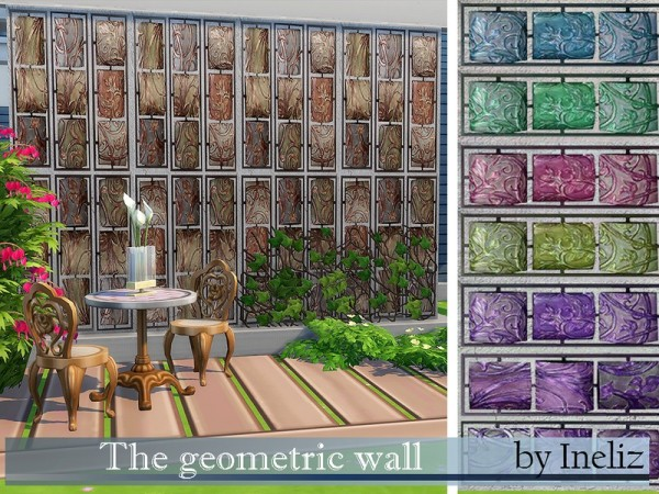 The Sims Resource: The geometric wall by Ineliz