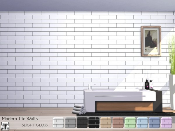 The Sims Resource Modern Tile Walls By Torque Sims 4
