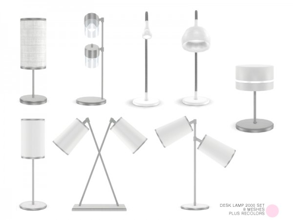 The Sims Resource: Desk Lamp 2000 Set by DOT