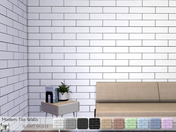 The Sims Resource: Modern Tile Walls by .Torque
