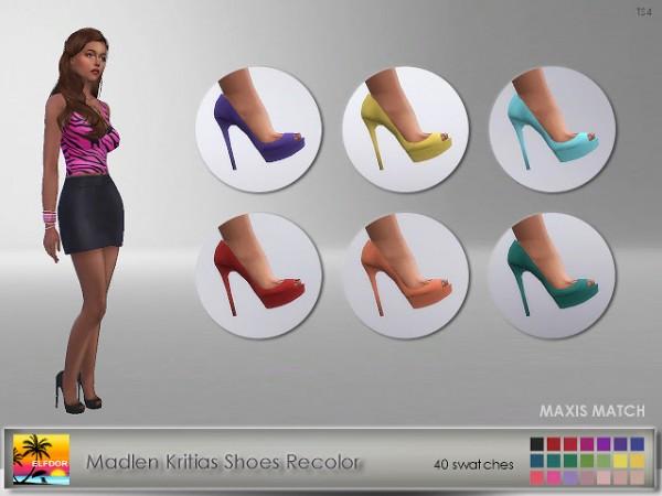 Elfdor: Madlen`s Kritias Shoes Recolor   Maxis Match