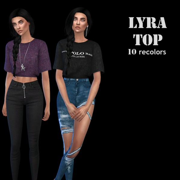 Leo 4 Sims: Lyra top recolor