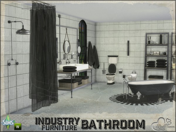 The Sims 4 Bathroom Ideas : The sims resource bathroom industry furnitures by