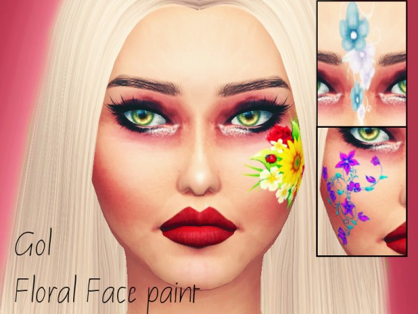 The Sims Resource: Gol Face Paint by Sharareh