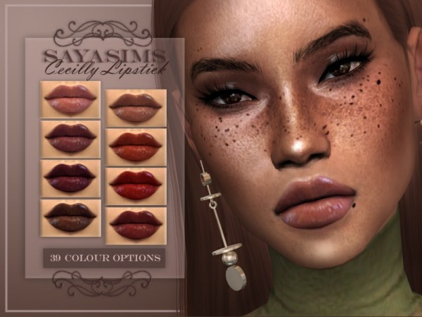 The Sims Resource: Cecilly Lipstick by Saya Sims