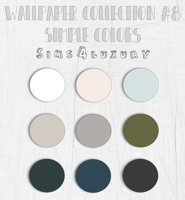 Sims4Luxury: Wallpaper Collection 8 no tiles