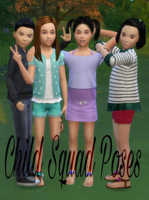 Lexiicas Sims: Child Squad Poses