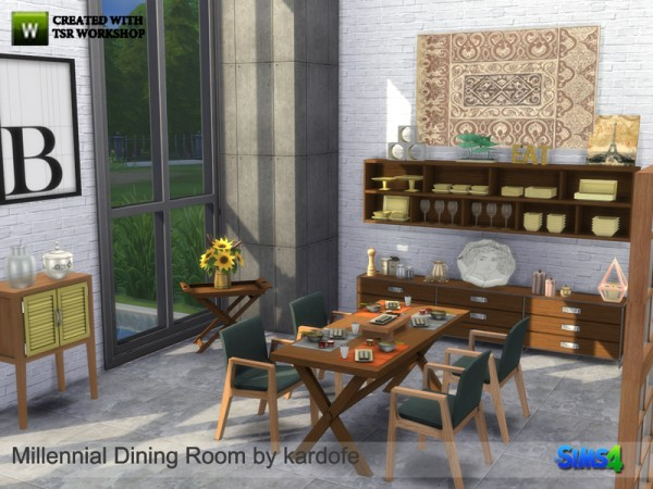 The Sims Resource: Millennial Dining Room by kardofe