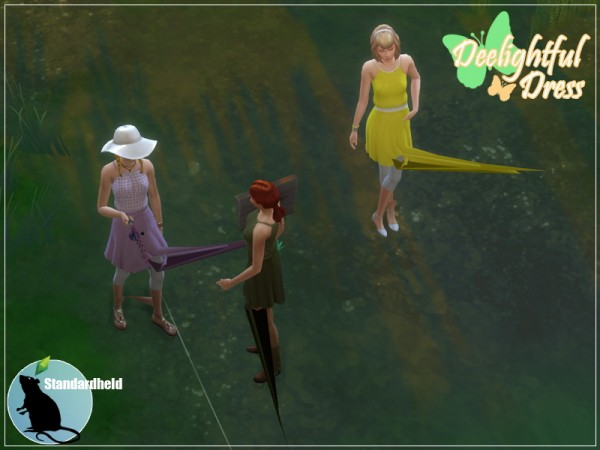 Simsworkshop: Deelightful Dress Recolored by Standardheld