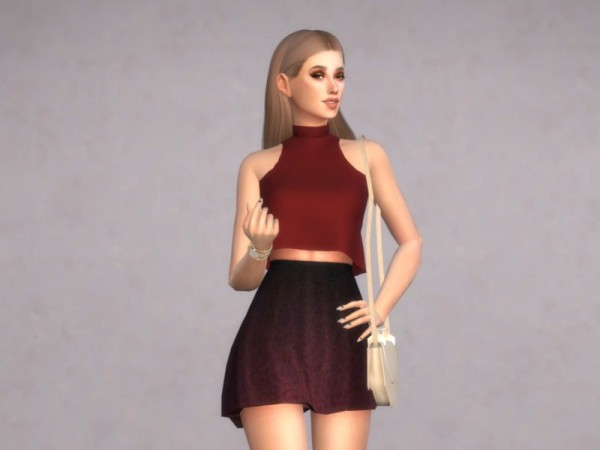 The Sims Resource: Violet Top by Christopher067