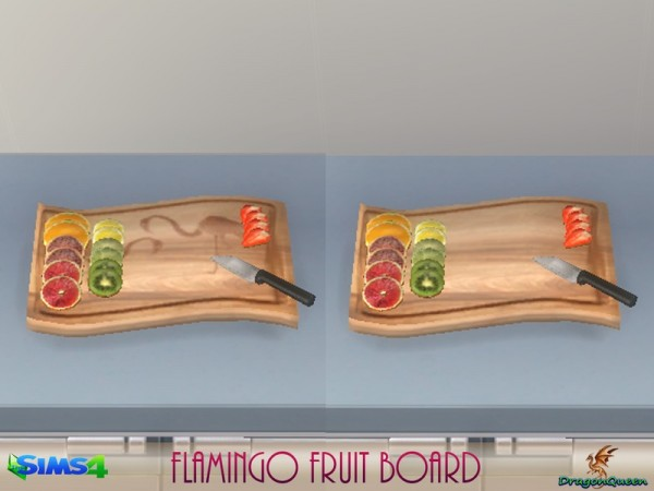 The Sims Resource: Flamingo Fruit Board by DragonQueen