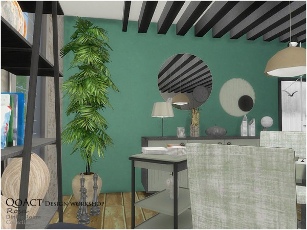 The Sims Resource: Rosa Dining Chair by QoAct