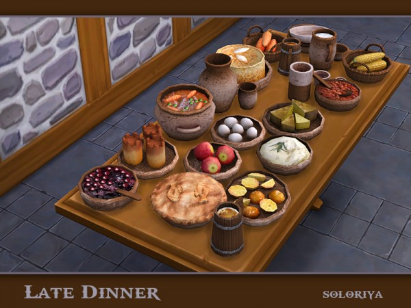 The Sims Resource: Late Dinner by soloriya
