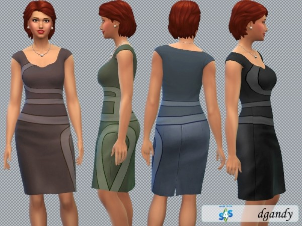 The Sims Resource: Pencil Dress M1 by dgandy
