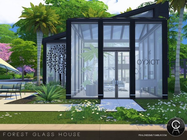 The Sims Resource Forest Glass House By Pralinesims