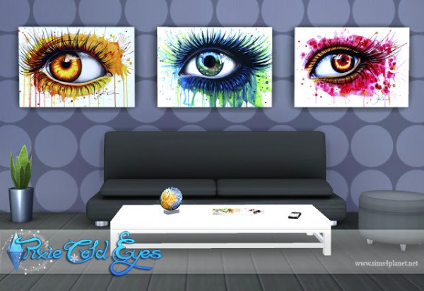 Anarchy Cat: Pixie Cold Eyes Paintings by Lorelea