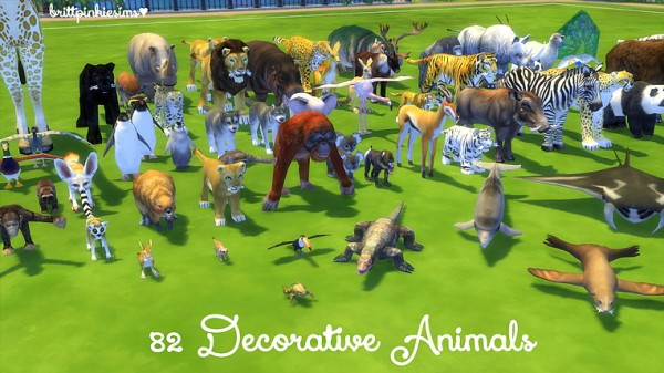 Brittpinkiesims Zoo Set Sims 4 Downloads