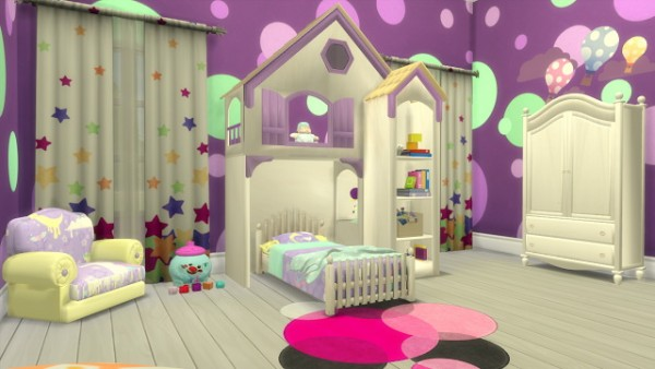 Sanjana Sims Fairytale Bedroom Set For Toddlers Sims 4