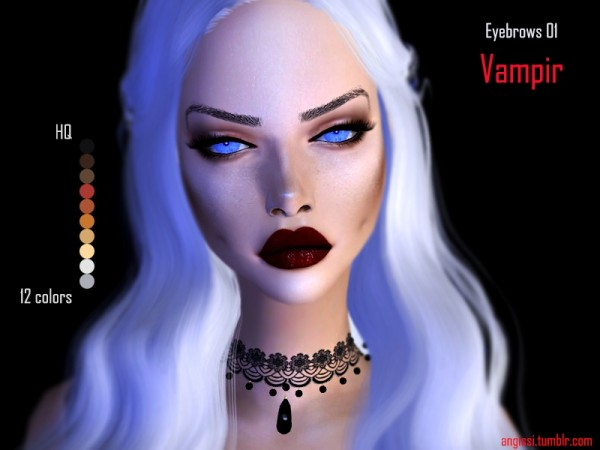 The Sims Resource: Eyebrows 01 Vampir by ANGISSI