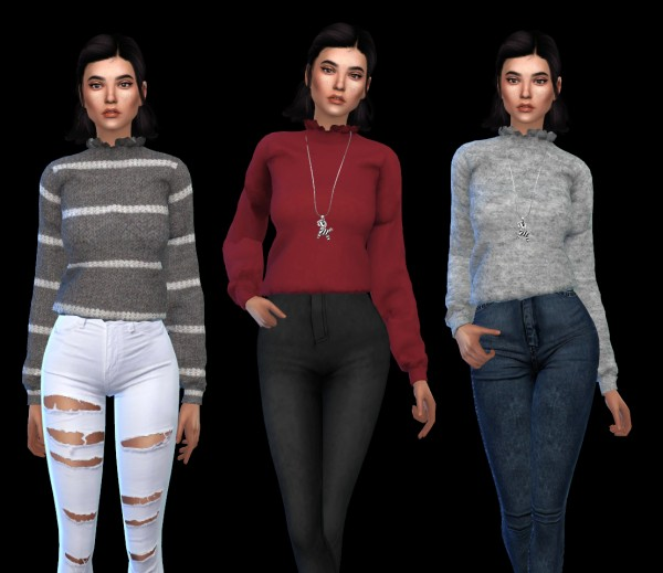 Leo 4 Sims: NF Blouse