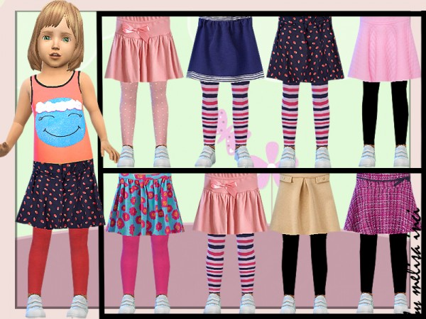 The Sims Resource: Toddler Leggings With Skirt by melisa inci
