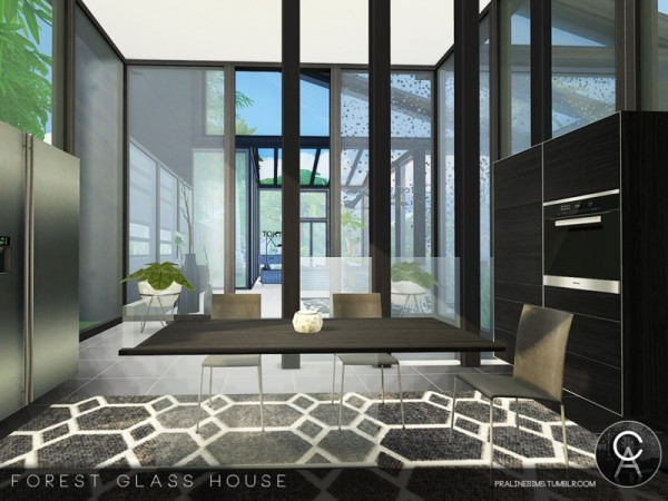 The Sims Resource: Forest Glass House by Pralinesims