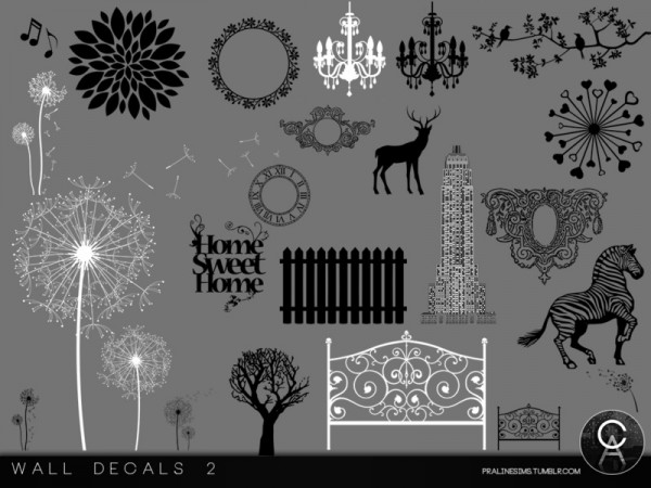 The sims resource wall decals 2 by pralinesims