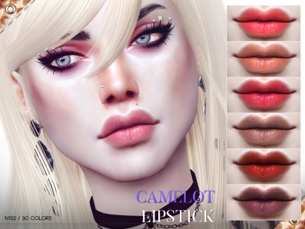The Sims Resource: Camelot Lipstick N132 by Pralinesims
